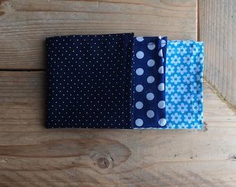 Handkerchief-Zero waste-handkerchief-blue-dots