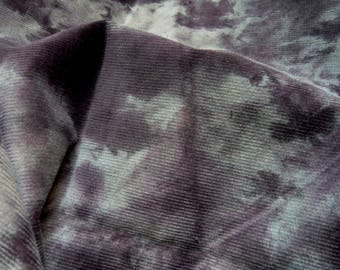 weathered cotton velvet, purple spots