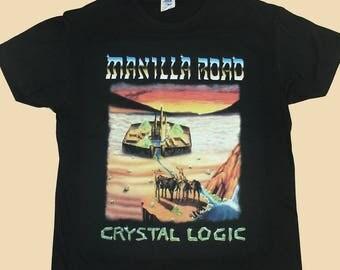 Manilla Road, Crystal Logic, T-shirt 100% Cotton