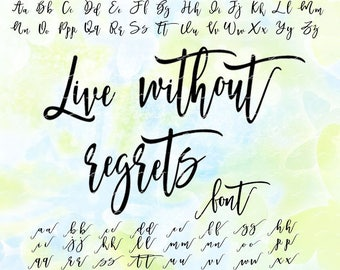 Cursive font svg, eps, png, cdr, file for Cricut, cut file for cutting machines, instant download