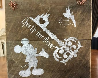 Rustic Mickey, Disney Barnwood Sign
