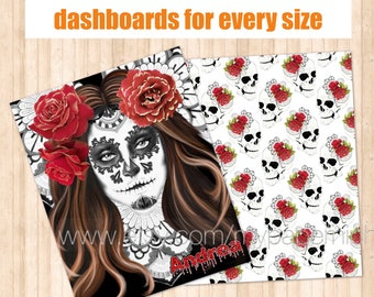 "Traveler's Notebook Dashboard ""La Catrina"""