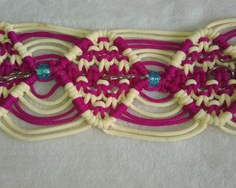Hnadmade crochet reyon key holder