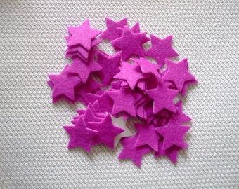 x 10 20 mm felt stickers stars purple scrapbooking, sewing, decoration...