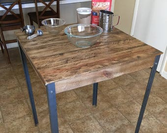 Pallet Pub Table -Metal Legs (Shipping Included)