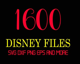 1600 Disney SVG and PNG FILES Bundle Svg files for cricut Disney Svg files Svg bundle Cut File Bundle Svg Files for Silhouette