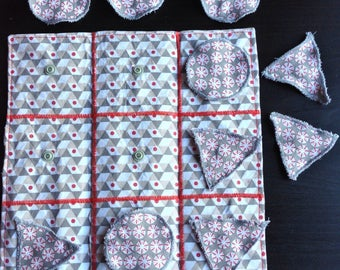 Game of Tic Tac Toe fabric for children