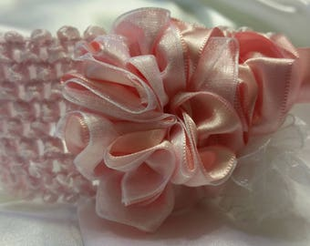 Girls Soft Pink Princess Headband