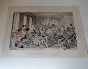 John Leech The meet at Mr Muleygrubs Engraving 19th century
