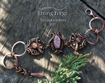 Wire wrap bracelet, wire bracelet, Adjustable bracelet, copper bracelet, Wire wrap jewelry, copper jewelry, wrapped bracelet