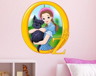 Wizard Of Oz Dorothy Wall Decal Mural Childrenu0027s Wall Art Vinyl Sticker  Kids Peel U0026 Stick