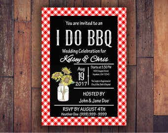I Do BBQ Wedding Celebration Shower Invitation