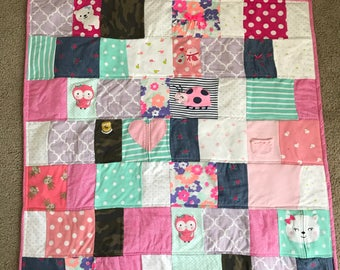 Baby Clothes Quilt, Memory Quilt, T Shirt Quilt, Memory Blanket, Baby Clothes Keepsake, Baby Quilt, Baby Blanket, Baby Clothes Blanket