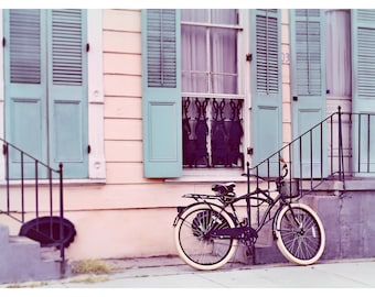 New Orleans photography, French Quarter, Louisiana, bicycle photography, NOLA, architecture print, travel photography, fine art photography