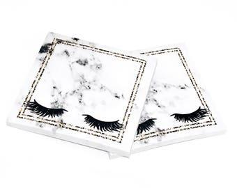 Eyelash Sticky Notes-- Marble/Lashes/Glam Sticky Notes