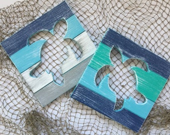 Sea Turtle Beach Wall Art Shabby Chic Nursery Decor