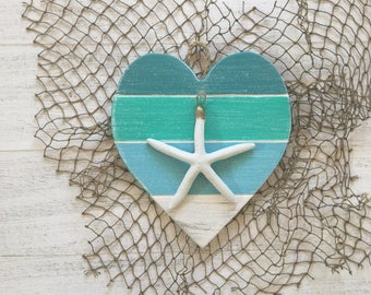 Shabby Chic Heart Beach Wall Art