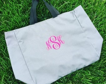 Monogrammed Tote Bag - Personalized Embroidered Tote Bag