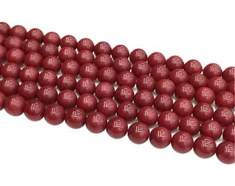 1Full Strand Red Round Beads,8mm 10mm Wholesale Gemstone For Jewelry Making