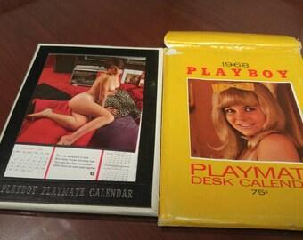 Vintage Playboy 1968 Playmate Desk Calendar