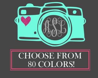 Custom Car Decal, Car Decal, Monogram Car Decal, Car Decals for Women, Photographer Car Sticker, Camera Decal, Photography Decal,Photography