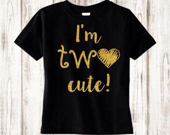 Custom Birthday Shirt, Girl Birthday Shirt, Toddler Shirt, Girls Shirt, 2t birthday shirt, Baby Girl Clothes, toddler birthday shirt, two