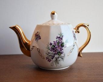 Vintage  Wood & Son Ellgreave Ironstone Teapot/ English Tea Kettle/
