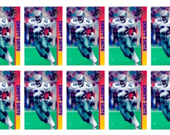 10 - 1993 Ballstreet Emmitt Smith Version 2 Football Card Lot Dallas Cowboys