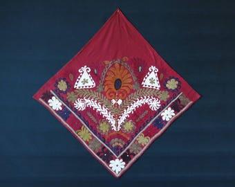 Uzbek silk embroidery decor