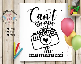 baby svg,  baby shirt design, Cant escape the Mamarazzi SVG Cutting File, nursery svg, camera svg, mother's day design, baby design