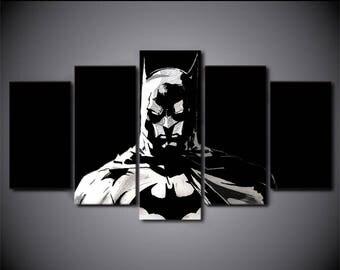 Batman  print poster canvas decoration 5 pieces
