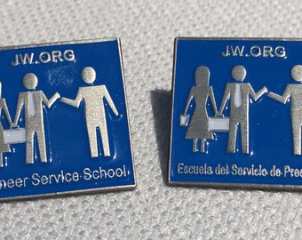 3.25 ea. >Lot of 6 - Pioneer School JW.ORG Premium JW Lapel Pins