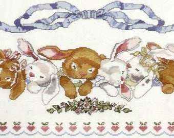 Candamar Designs Counted Cross Stitch Kit, Bunny Babies Sweet Dreams 60460