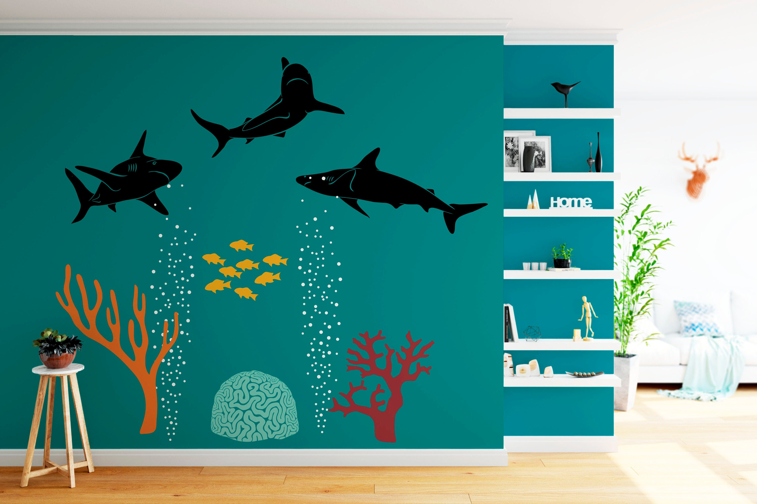 Underwater Wall Decals Image Collections Home Wall Decoration Ideas - Underwater wall decals