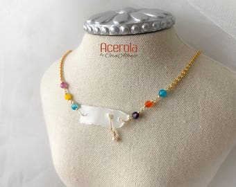 Mi Islita Transparente, Puerto Rico necklace.