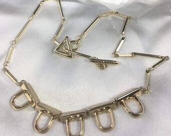 "Gold Tone 18"" Designer Necklace By Eddie Borgo"