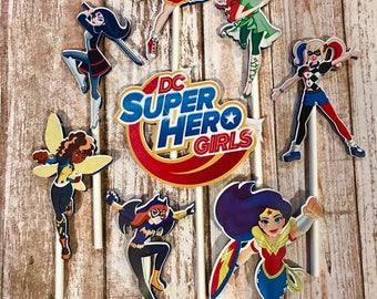 DC Super Hero Girls Cupcake Toppers