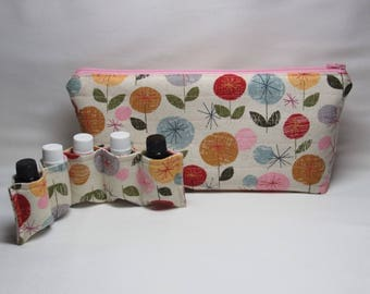 Essential oil bag, Oil storage bag, Oil holder, Travel bag, Essential oil case, Zippered pouch, Thank you gift, Essential oils