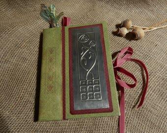 Red & Green Handmade Book, Mackintosh Book, Art Nouveau, Travel Journal, Sketch Book, Scrapbook, Junk Journal, Bookbinding, Photo Album