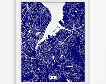 Kiel map Etsy