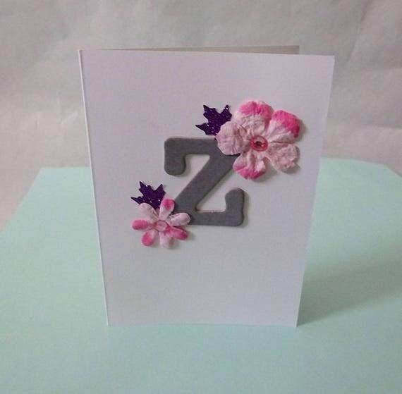 """Monogram/Initial Card - Letter """"Z"""""""
