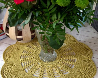 Large doily crocheted in Rico cotton