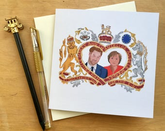 Prince Harry Angela Merkel EU Remain Royal Wedding card humour Meghan Markle