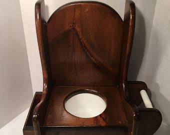 Handmade King Of The Throne Childs Potty Seat With Book Holder And Toilet  Paper Dispenser 523