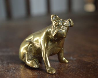 Brass British Bulldog ornament