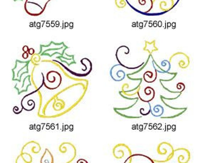 Art Deco Christmas  ( 10 Machine Embroidery Designs from ATW )