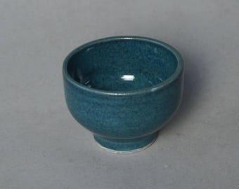 Small blue ceramic bowl -- Handmade stoneware ceramics
