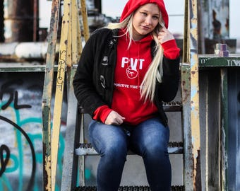 Red & White Hoodie