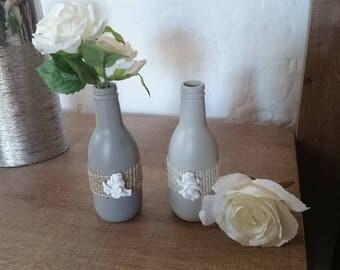 Pair of small vases/bottles/vases