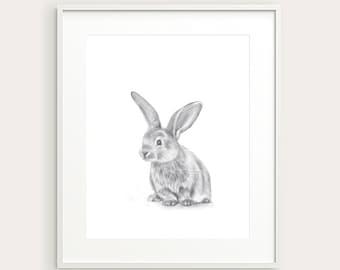 Bunny. Nursery Art. Kid's Room Print. Kid's Decor. Baby's Room Print. Baby Decor.Baby Animal. Baby Rabbit. Nursery Animal. Nursery Print